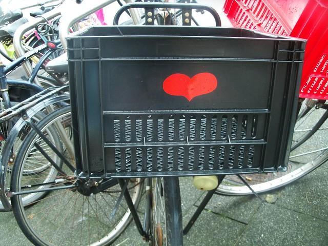 Heart on a bike.