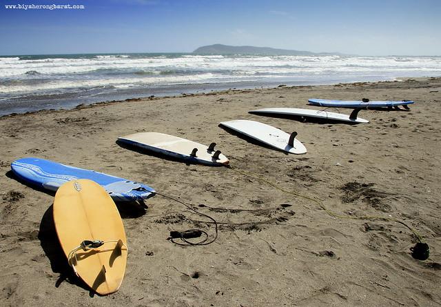 Surfboards in Bagasbas Beach Daet Camarines Norte