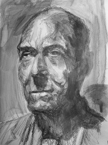 study of a bronze bust by husdant