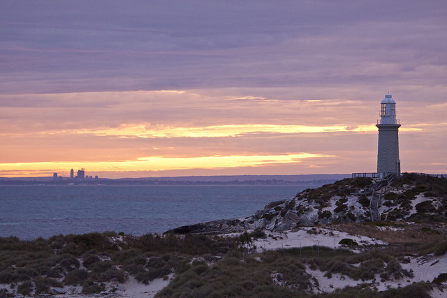 The thin stip of water that seperates beautiful Perth city from the paradise of Rottnest Island