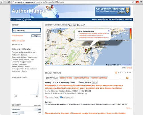 Cool toys pic of the day - AuthorMapper & MedNar (Another PubMed Alternative)