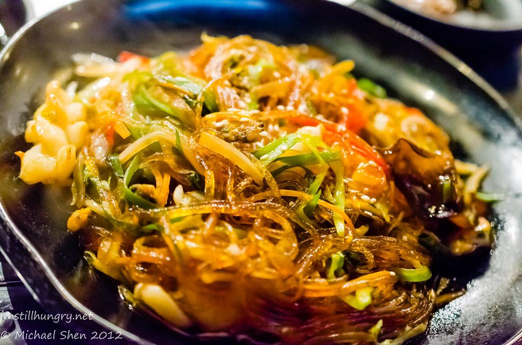 Sydney Madang Japchae - sweet potato noodles stir fried in sesame oil with various vegetables