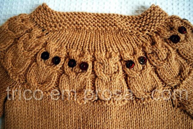 tricô em prosa - Casaco Owlet - detalhe das costas