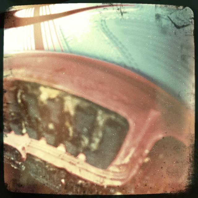 muddying new running shoes