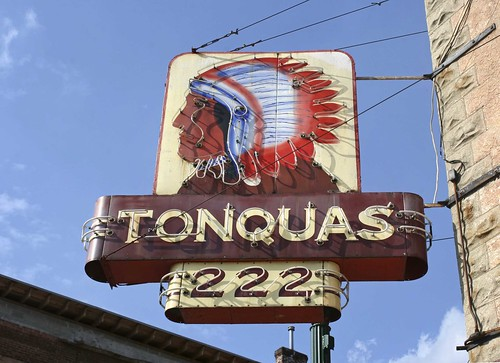 Tonquas Tribe #222 Neon sign, Troy Ohio. Copyright Jen Baker/Liberty Images; all rights reserved.