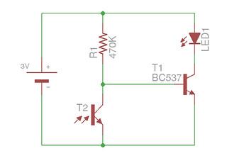 esquema amb fototransistor