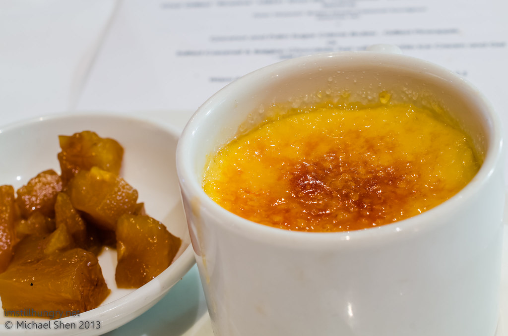 Bistro Lilly Coconut & palm sugar crème brûlée w/grilled pineapple