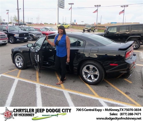 Dodge City of McKinney would like to say Congratulations to Shannon Savala on the 2013 Dodge Charger by Dodge City McKinney Texas