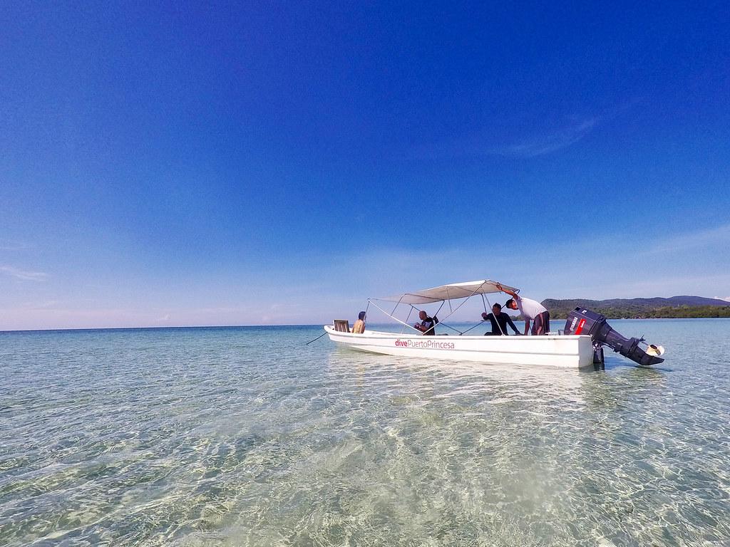 The beautiful crystal waters of Puerto Princesa.