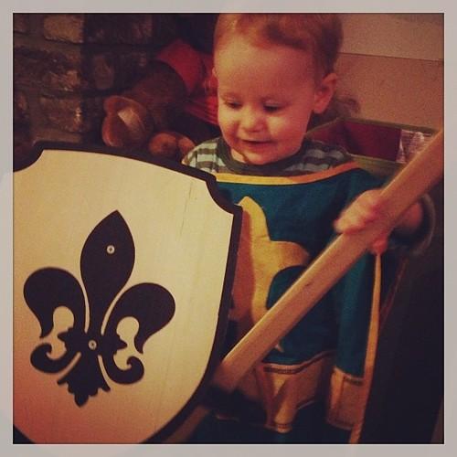 Ik wil doen wat mijn broer doet #verkleden #ridder