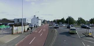 cycle lane mock up