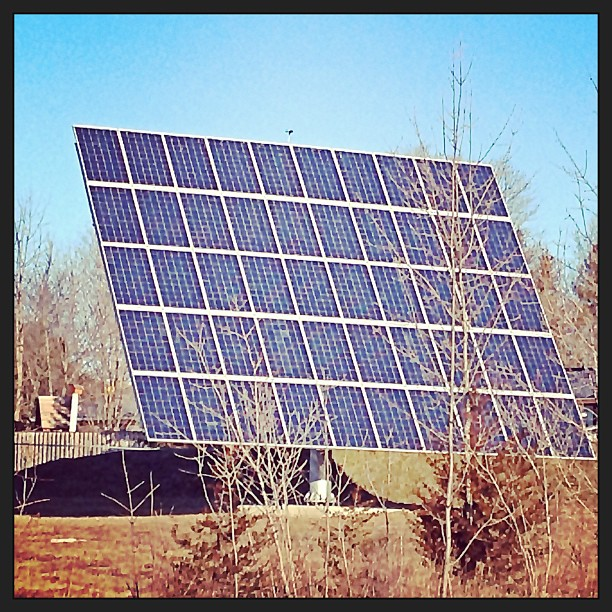 Apr 2 - rectangle {solar panel behind my office} #photoaday