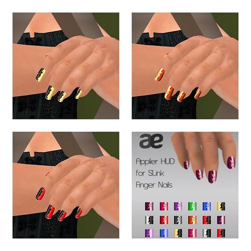 Wave Nail Add On HUD (for Slink Hands)
