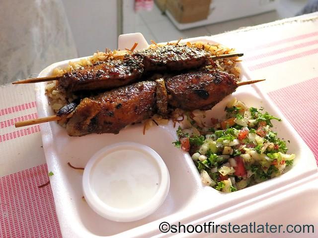 chicken kebab with Turkish rice P180