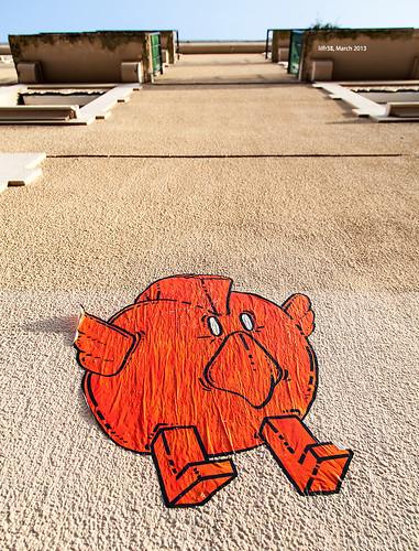 """Winged Punk Orange"" Like Creature by LilFr38"