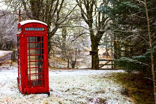 Old Red Phone Box in the Snow by emperor1959