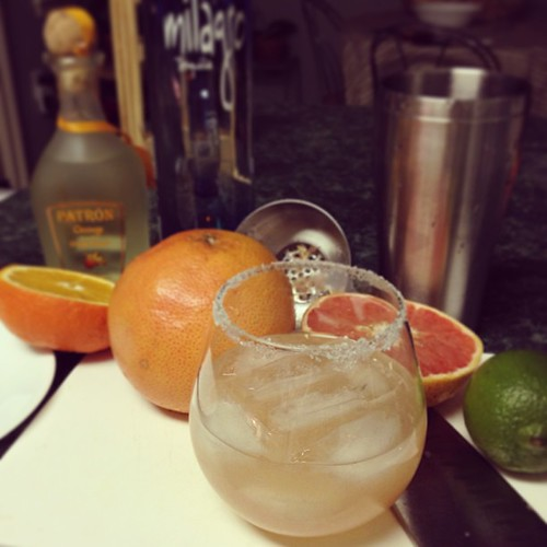 Salty Chihuahua grapefruit margarita.