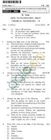 UPTU  B.Tech Question Papers - CH-604 - Chemical Technology-II