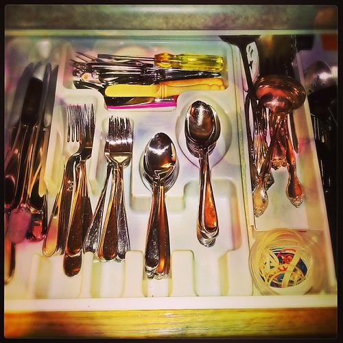 Mar 25 - in your drawer {cutlery / silverware drawer} #fmsphotoaday