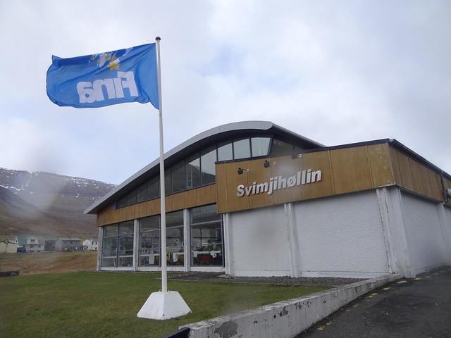 The FINA flag in Klaksvík