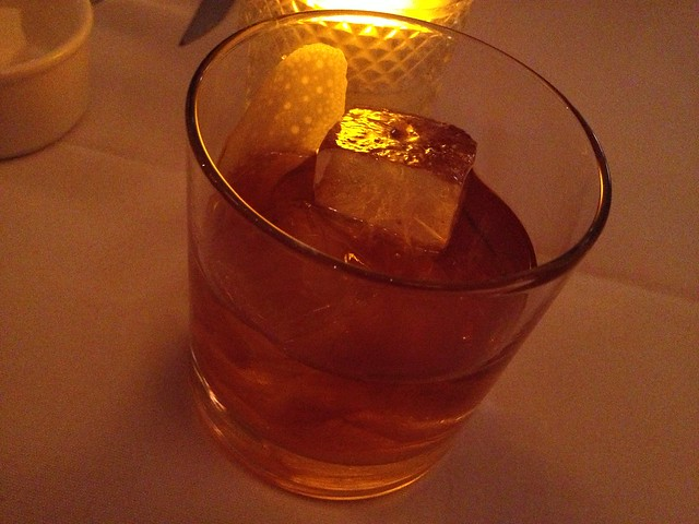 Old Fashioned cocktail - AQ Restaurant