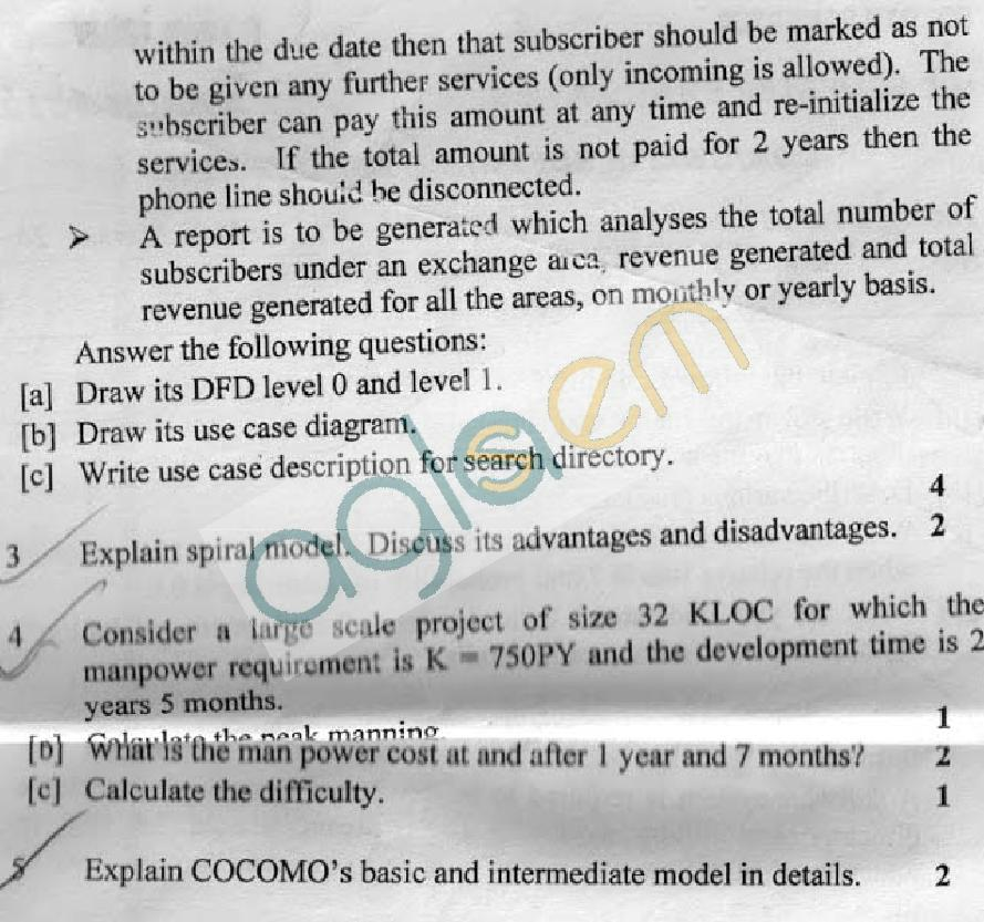 DTU: Question Papers 2012 - 4 Semester - Mid Sem - COE-SW-215