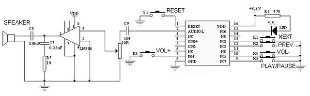 mp3 mode and audio amplifier