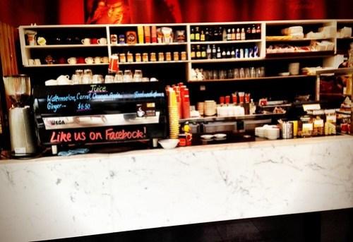Rosso Espresso counter
