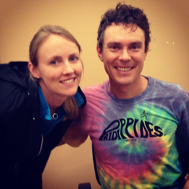Oh just me and ultrarunning legend Scott Jurek. You know, chillin'. How we do. No big deal.