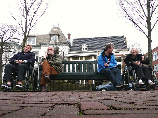 Conversation at Scheveningseweg, The Hague.