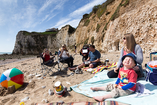 Beach Picnic at Freshwater Bay, Isle of Wight
