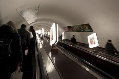 No point running up these massive escalators!