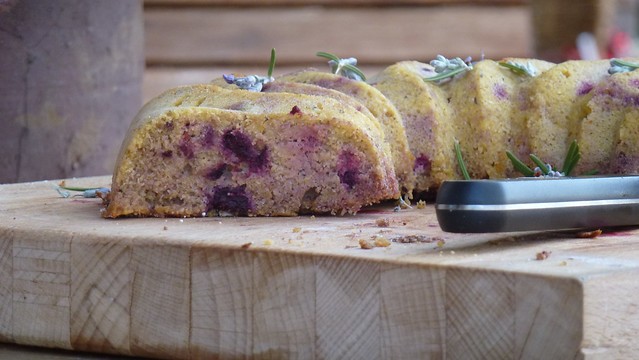 Maize & Buckwheat cake with red fruits