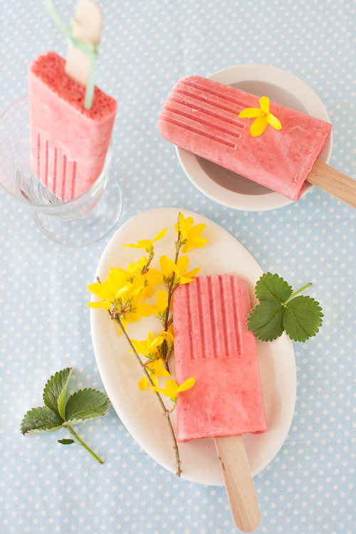 Strawberry Popsicles 2