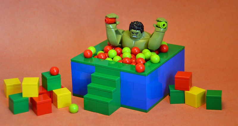 Avengers Arcade - Hulk in the Soft Play Ball Pit