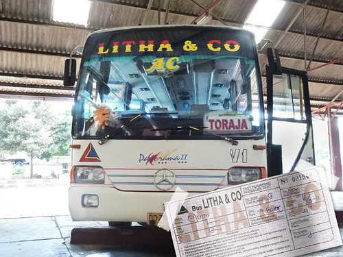 Autobús a Rantepao (Tana Toraja, Sulawesi)