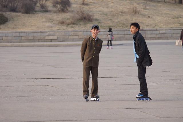 North Korean Boys in Pyongyang
