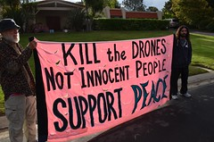 Drones protest at home of General Atomics CEO Neal Blue