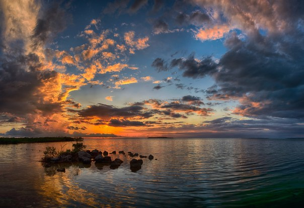 Gulf view from Key Largo at sunset