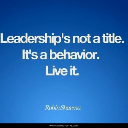 Leadership's not a title.