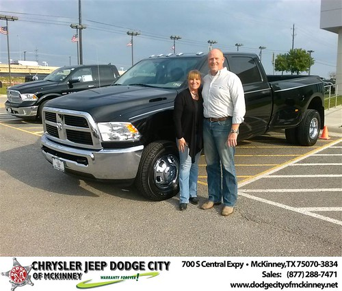 Dodge City of McKinney would like to say Congratulations to James Holsted on the 2012 Dodge Ram by Dodge City McKinney Texas