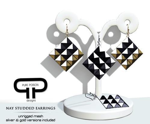 PP - Nay Studded Earrings