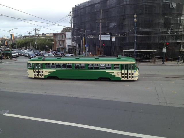 Green Muni streetcar