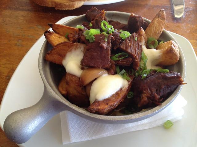 Braised beef poutine - The Beach Chalet Brewery & Restaurant