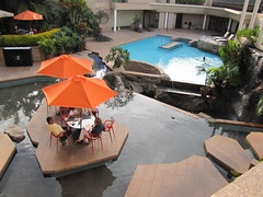 Pool area at Tribe Hotel