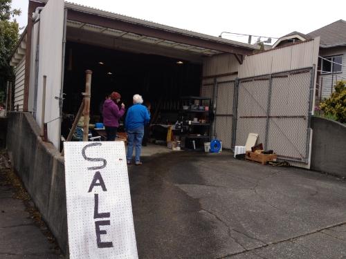 Garage sale in massive garage