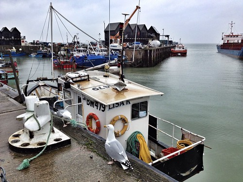 Whitstable Harbour, Rainy Day at Whitstable, Kent