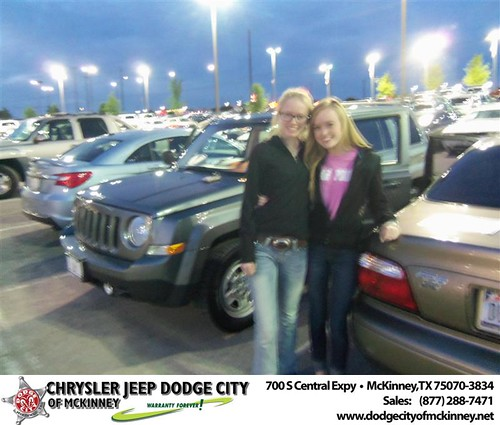 Dodge City of McKinney would like to say Congratulations to Dena Shipp on the 2012 Jeep Patriot by Dodge City McKinney Texas