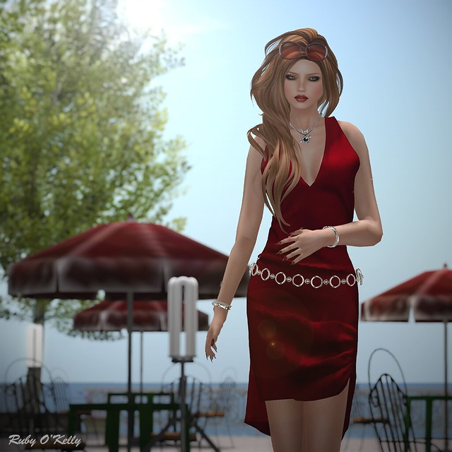 Crystal Line-Diamond dress and sandals-003