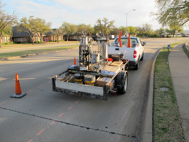 Bike Lanes In Richardson - Paint Truck